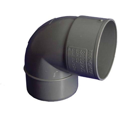 CODO EVAC M-H 87º 110MMØ PVC HIDROT