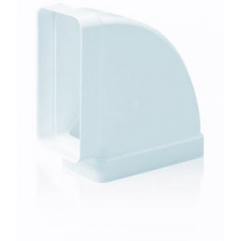 Codo ex/aire tubo rectangular 150x75mm ign/aut horizontal pp