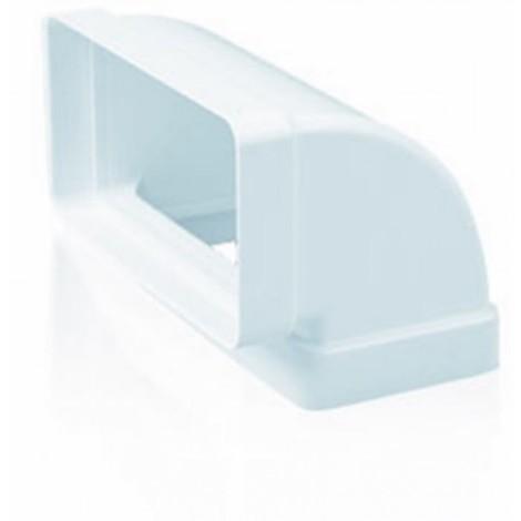 Codo ex/aire tubo rectangular 90ºx150x75mm ign/aut pp bl sis