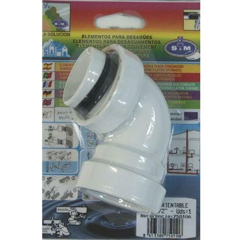 Codo Extraccion Aire Orientable 11/2 S&M 750106