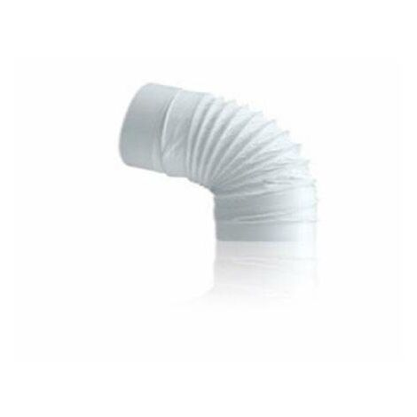 Codo Flexible Tubo Extraccion Pvc Redondo Gonal Diam. 100 Mm