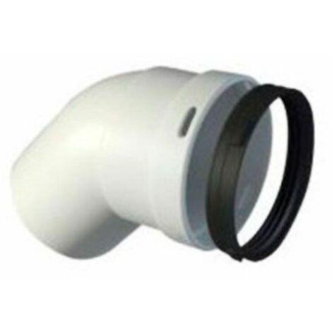 Codo MH de polipropileno para calderas de condensación diámetro80X45º