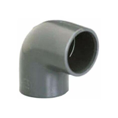 Codo PVC a presión PLASSON - Para encolar - 90° - Diámetro 25 mm - Hembra-hembra - 39307A