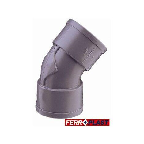 Codo Pvc Gris H-h 45� 32mm. 205022