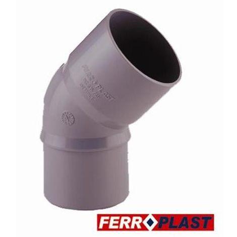 CODO PVC GRIS M-H 45 110MM. 205007