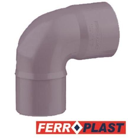 CODO PVC GRIS M-H 87 90MM. 205006