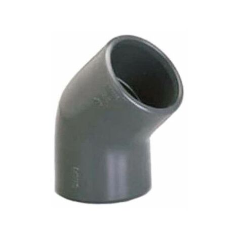 Codo PVC presión PLASSON - Para encolar - 45° - Diámetro 75 mm - Hembra-hembra - 39362K