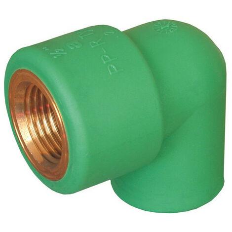 """Codo rosca F Aquatherm D 20 X 1/2"""" rosca de latón 0023010"""