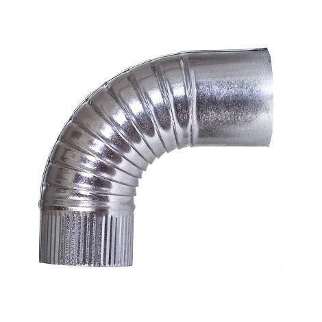 Codo tubo estufa 090 mm rizado ac galv theca