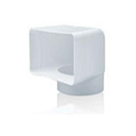 CODO VERTICAL TUBO EXTRACCION PVC 90º 110X55-Ø100