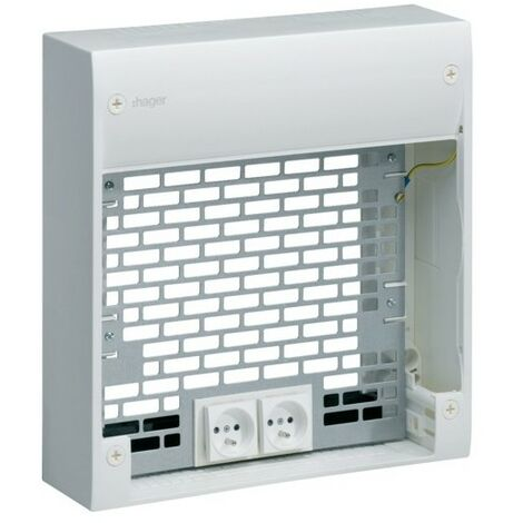 Cof d'ext.+ 2 prises + 2 cord. - SYSTEMES VDI HAGER TN903