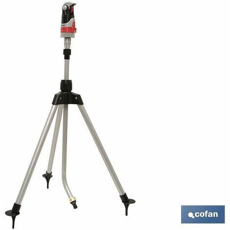 COFAN 90014017Arroseur 4Positions avec trépied télescopique, 66.5x 12x 13.5cm