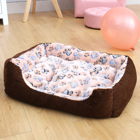 Coffee Corduroy dog Beds Thick sponge Soft warm Large pet pillow supplies Couch
