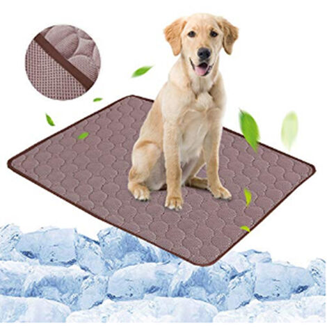 Coffee Pet Dog Puppy Self Cooling Mat Cushion Summer Cool Bed