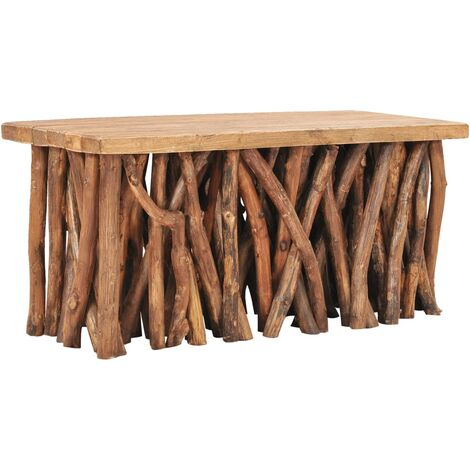 Coffee Table 100x40x47,5 cm Solid Reclaimed Wood and Teak Wood - Brown
