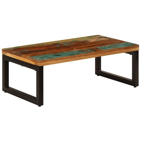 Coffee Table 100x50x35 cm Solid Reclaimed Wood and Steel