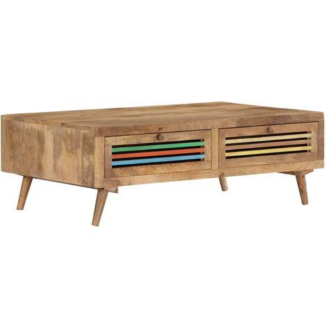 Coffee Table 100x60x30 cm Solid Mango Wood