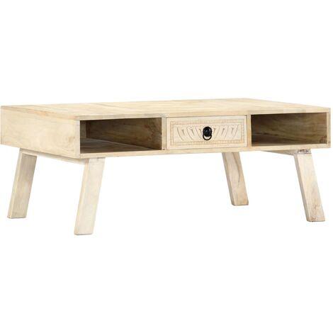 Coffee Table 100x60x40 cm Solid Mango Wood