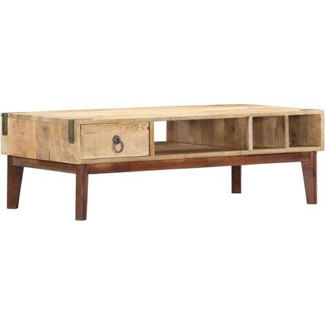 Coffee Table 110x55x40 cm Solid Mango Wood