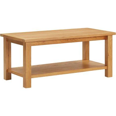 Coffee Table 110x55x40 cm Solid Oak Wood