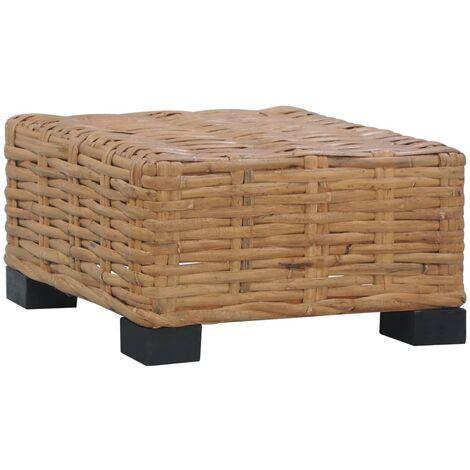 Coffee Table 47x47x28 cm Natural Rattan - Brown