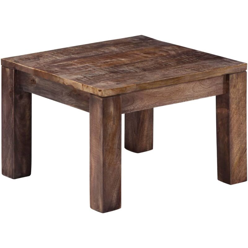 Coffee Table 50x50x35 Cm Solid Mango Wood