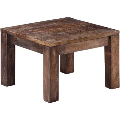 Coffee Table 50x50x35 cm Solid Mango Wood