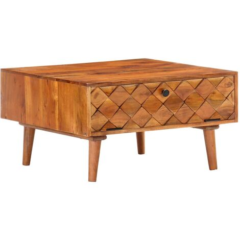Coffee Table 68x68x38 cm Solid Acacia Wood