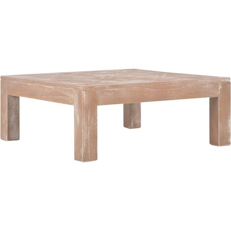 Coffee Table 70x70x28 cm Solid Pine Wood - Brown