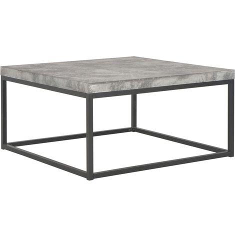 Coffee Table 75x75x38 cm Concrete Look