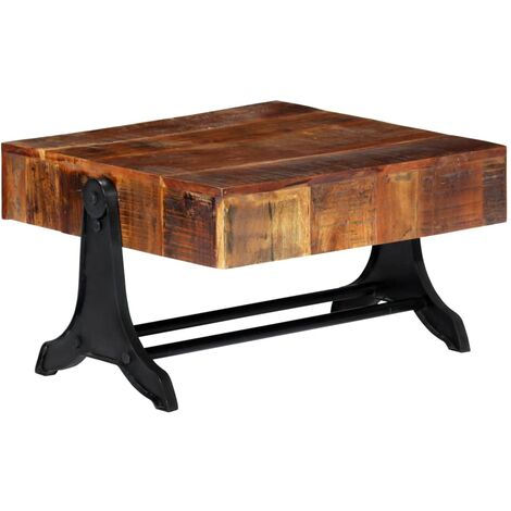 Coffee Table 77x70x40 cm Solid Reclaimed Wood