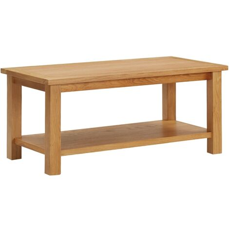 Coffee Table 90x45x40 cm Solid Oak Wood