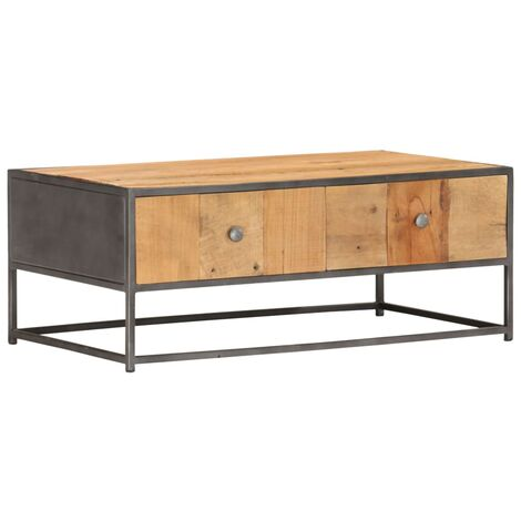 Coffee Table 90x50x35 cm Solid Reclaimed Wood - Brown