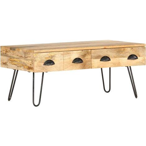 Coffee Table 90x50x39 cm Solid Mango Wood