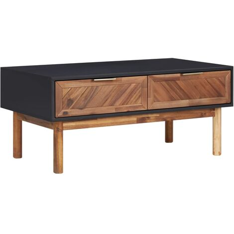 Coffee Table 90x50x40 cm Solid Acacia Wood and MDF - Brown