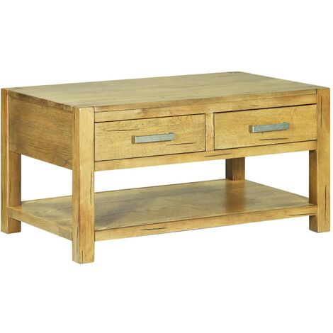 Coffee Table 90x55x47 cm Rustic Oak Wood