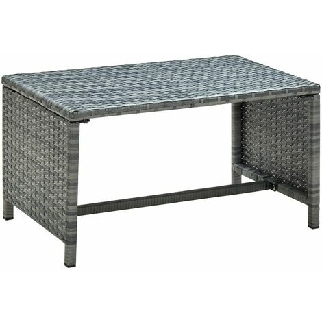 Coffee Table Anthracite 70x40x38 cm Poly Rattan