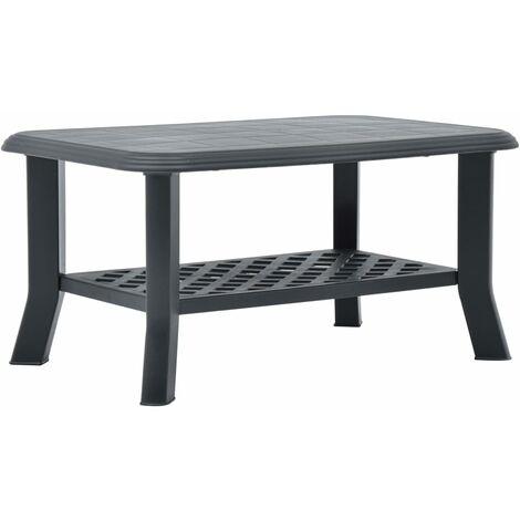 Coffee Table Anthracite 90x60x46 cm Plastic