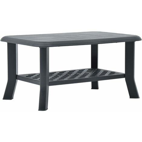 Coffee Table Anthracite 90x60x46 cm Plastic - Anthracite