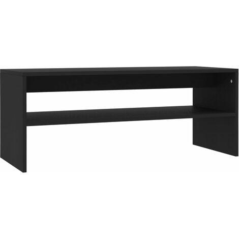 Coffee Table Black 100x40x40 cm Chipboard