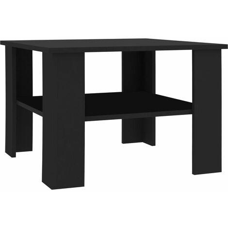 Coffee Table Black 60x60x42 cm Chipboard