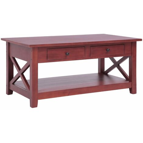 Coffee Table Brown 100x55x46 cm Solid Mahogany Wood