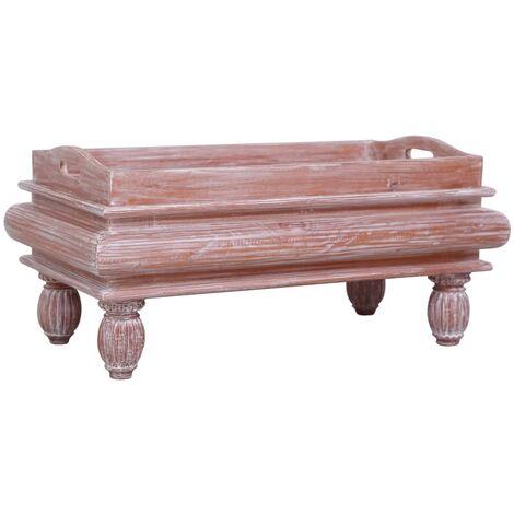 Coffee Table Brown 90x50x40 cm Solid Mahogany Wood