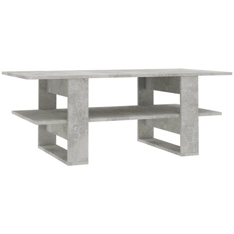Coffee Table Concrete Grey 110x55x42 cm Chipboard