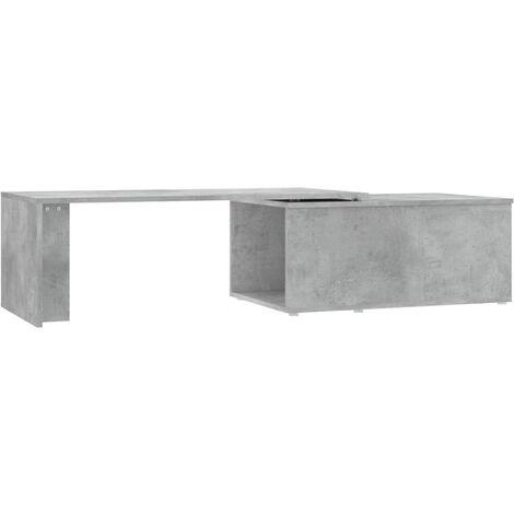 Coffee Table Concrete Grey 150x50x35 cm Chipboard