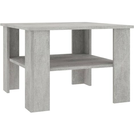 Coffee Table Concrete Grey 60x60x42 cm Chipboard