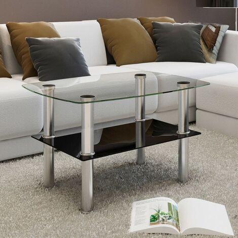 Coffee Table Glass 2 Tiers