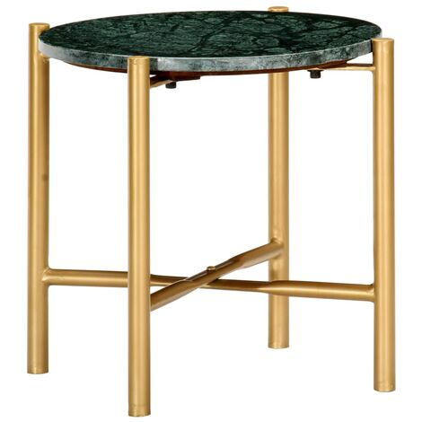 Coffee Table Green 40x40x40 cm Real Stone with Marble Texture