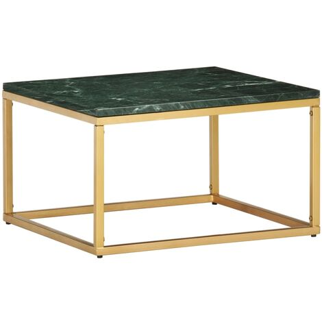 Coffee Table Green 60x60x35 cm Real Stone with Marble Texture
