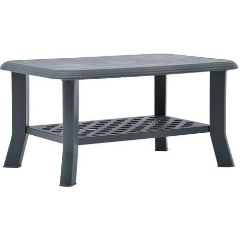 Coffee Table Green 90x60x46 cm Plastic